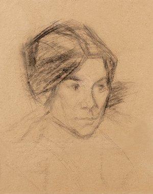 Mikhail Matushin.. Elena Guro's portrait. (1877-1913)
