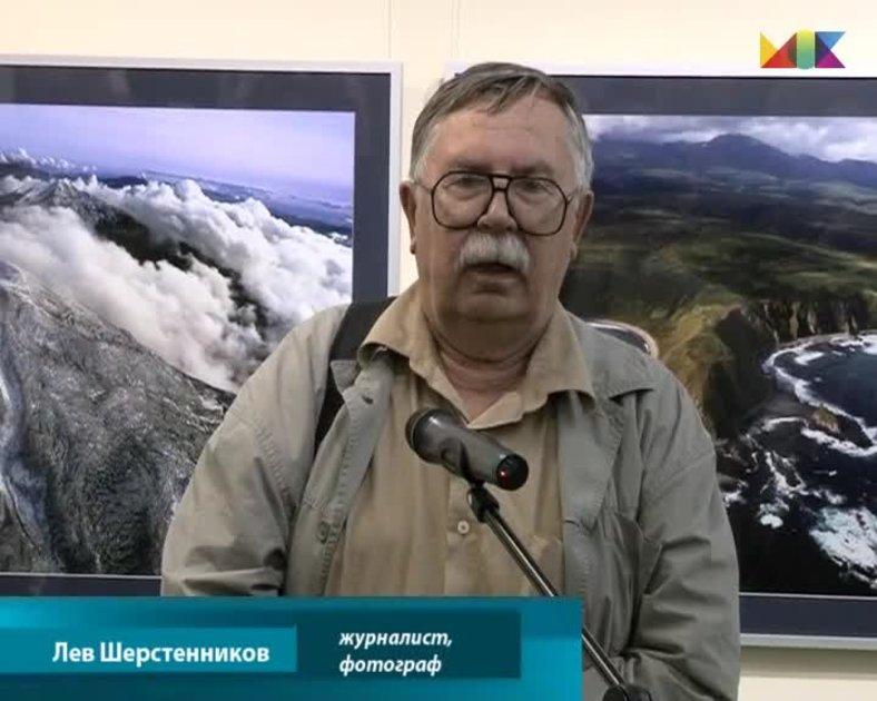 Лев Шерстенников на выставке А. и В.Джус