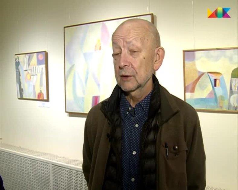 Олег Генисаретский на выставке